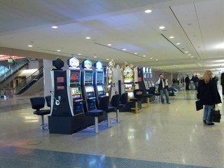 空港のスロットマシン