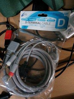 Wii用D端子ケーブル