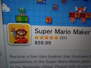 Super Mario MakerのDL版、超高い