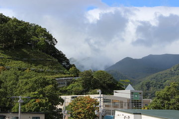 羅臼岳は雲の向こう