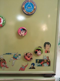 妙にリアルな冷蔵庫の装飾
