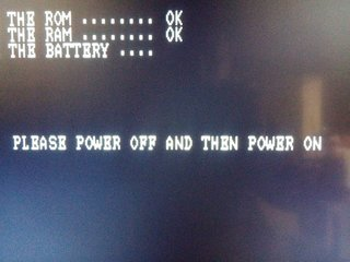 PLEASE POWER OFF AND THEN POWER OFF