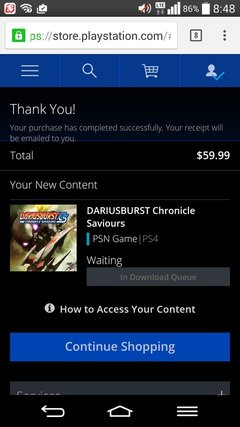 DARIUSBURST Chronicle Saviours PS4版購入