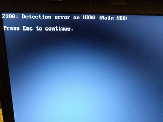 Detection error on HDD0