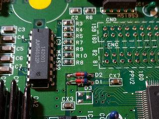 R3・R4・R5・D1・D2・CX7を実装