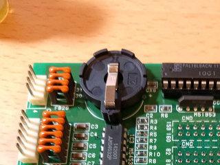 電池ホルダーをつけて完成