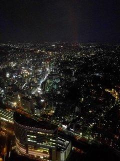 ランドマークタワーから見た夜景