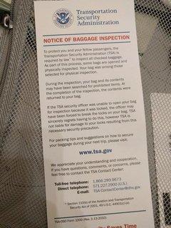 TSAカード入ってた