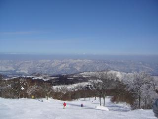 野沢温泉スキー場やまびこゲレンデのあたり