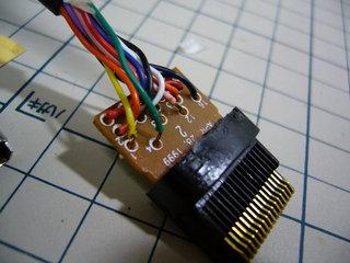 DC-VGA デミロのコネクタ内部