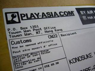 PLAY-ASIAから届いていた荷物