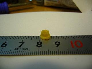 大きい方の歯先円直径は6mm以上あった