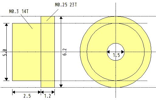 黄色いギアの見取り図