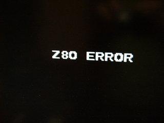 Z80 ERROR