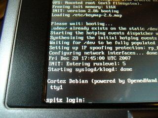 とりあえずLinuxが上がって一安心