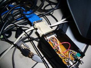 VGA変換コネクタを介してXRGB-3に繋いでみた