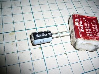 16v1000uFのコンデンサが出てきた