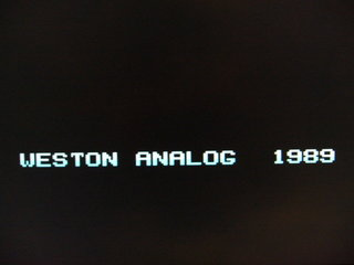 WESTON ANALOGだそうです
