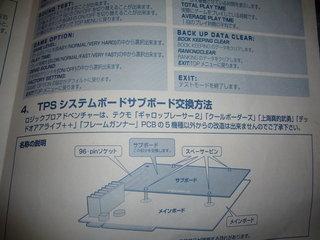 TPSシステムボードサブボード交換方法