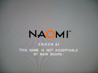 ERROR 01 THIS GAME IS NOT ACCEPTABLE BY MAIN BOARD.