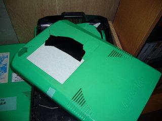 バキバキに割れたケース