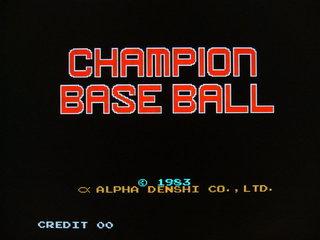 チャンピオンベースボール