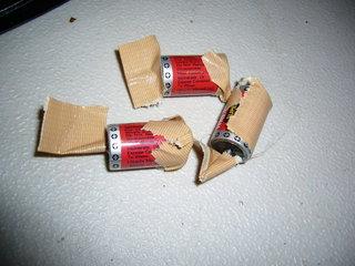 外した電池