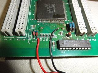 補助電池を接続