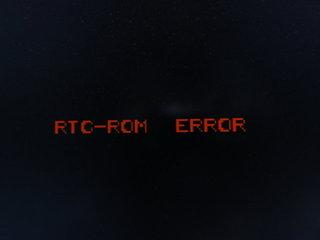 RTC-ROM ERROR