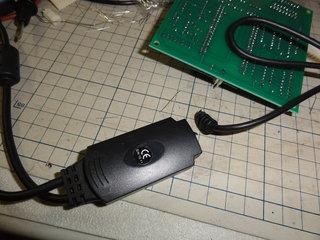 USB側を切断