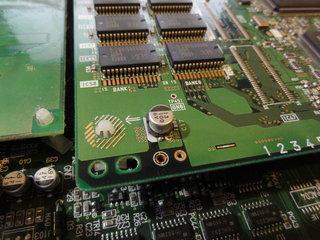 ゼビウス3D/Gのもげたコンデンサ付け直した
