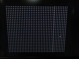 画面が点線で埋め尽くされて起動しない