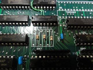 1MbitのUVEPROMの配線を切り替えるジャンパ