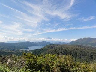 箱根より富士山を望む