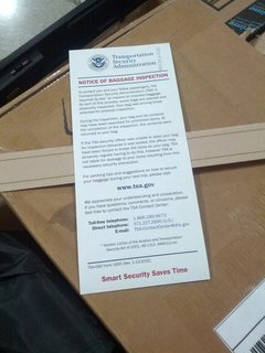 TSAの紙