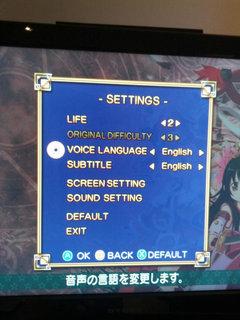 設定でボイスの言語を変更可能だった