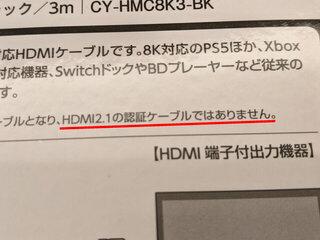 HDMI2.1相当らしい